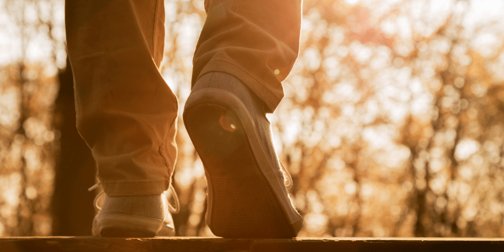 Going for a walk outside has many health and mental health benefits that can help you relieve stress during the holidays.