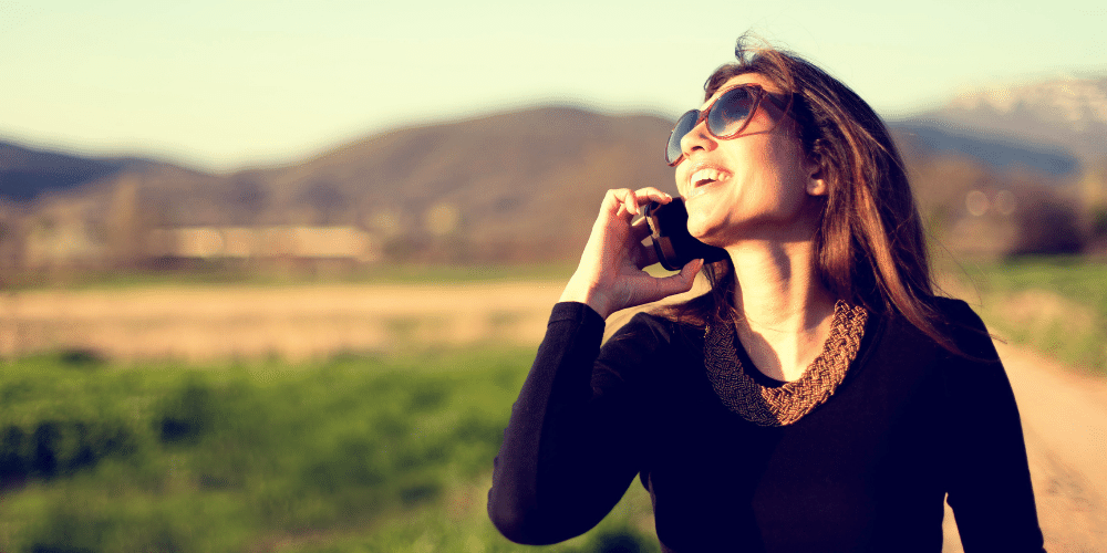 Talking to a loved one on the phone and making a personal connection can help you relieve stress during the holidays