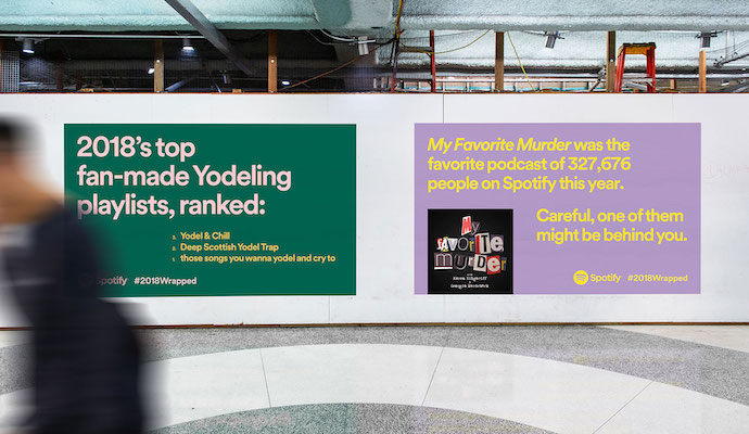 Example of Spotify Wrapped Playlist Marketing Campaign from Muse