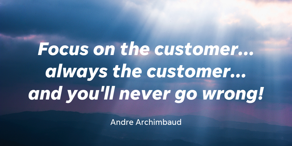 Andre Archimbaud is the co-host of the Growth Lab. Experience has taught him that a customer-first mindset is the way to go.