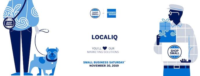 Example of AMEX Small Business Saturday customizable marketing material.