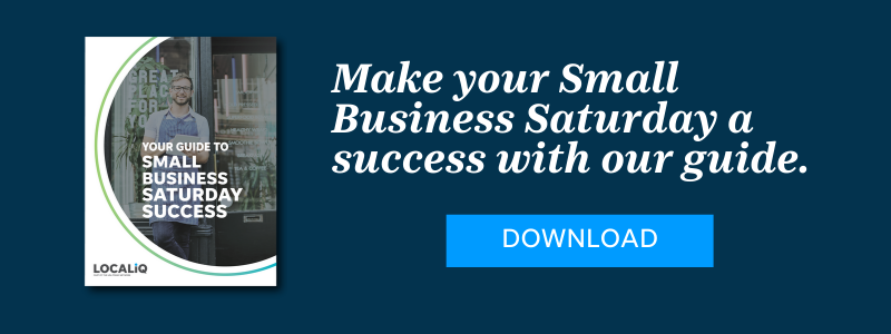 Get the guide from LOCALiQ to make your Small Business Saturday a success.