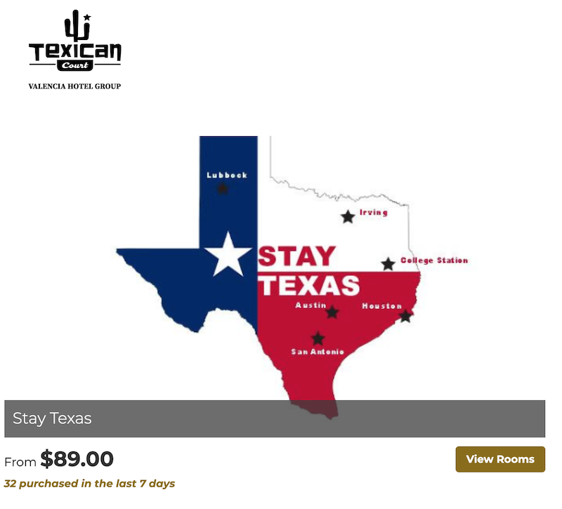 hospitality marketing tip - offer promos for in-state visitors