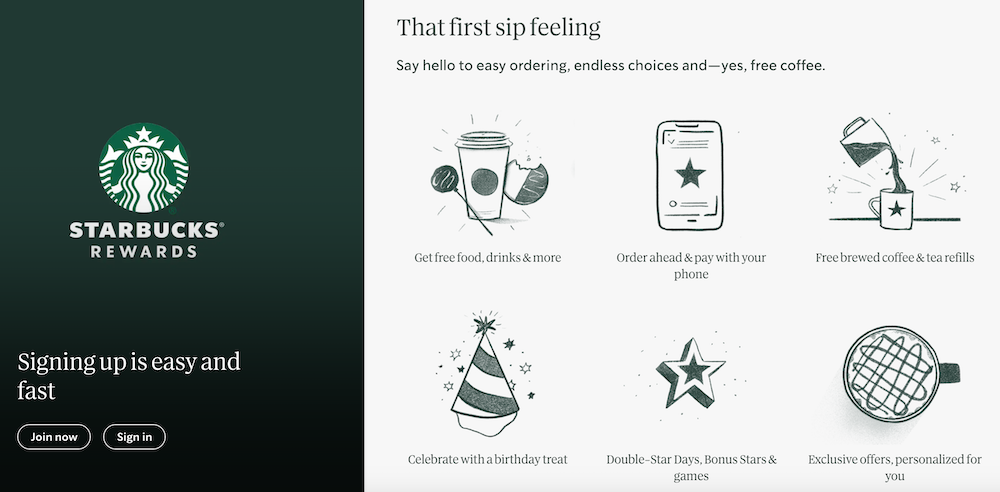 Starbucks Rewards is Starbucks' customer loyalty program that rewards customers for each purchase.