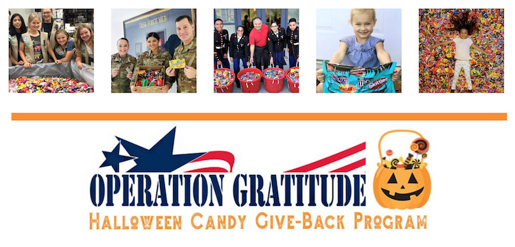 Giving back is a great halloween promotion, and Operation Gratitude can help!