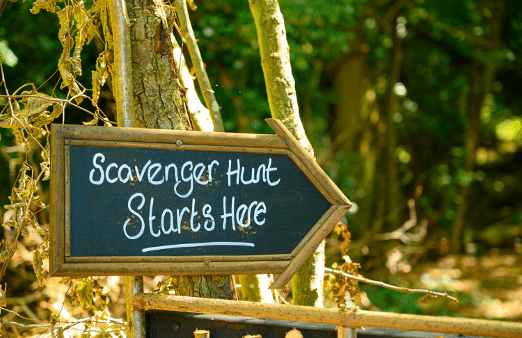 You can host a scavenger hunt for a halloween promotion to lead people to your location.