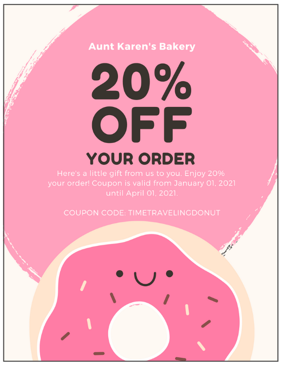 This is an example of a coupon from a mailer. Direct mail is a great local advertising idea for your small business.