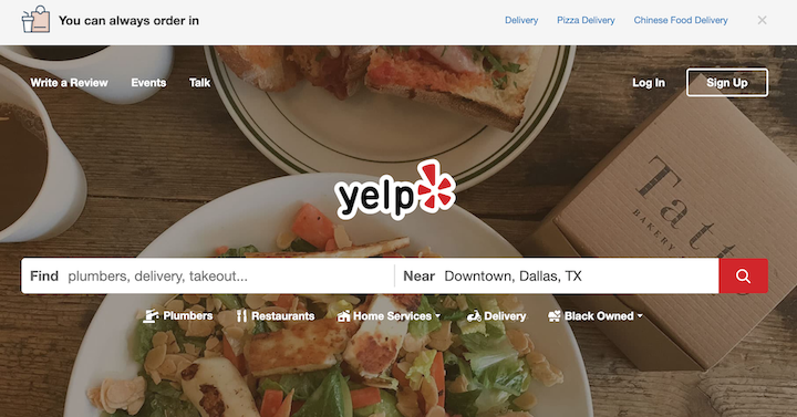 Yelp is an important local listing and review site.