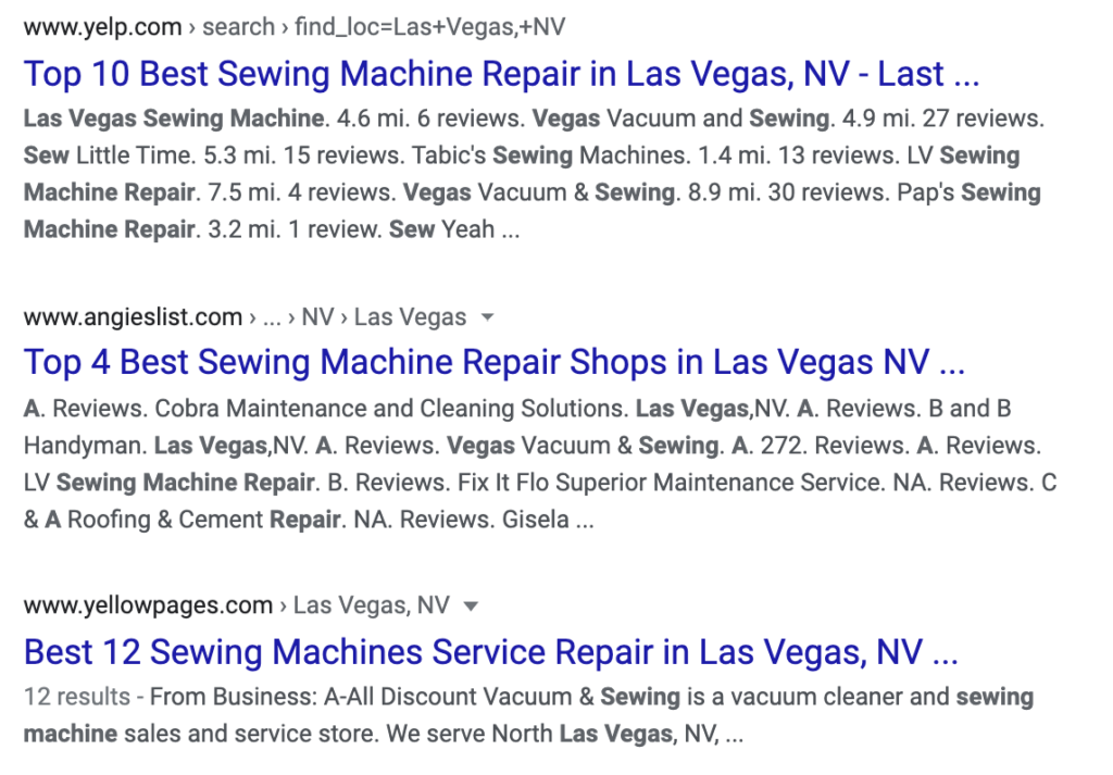 This screenshot shows how businesses can benefit from getting on listings so they appear in these best-of lists.