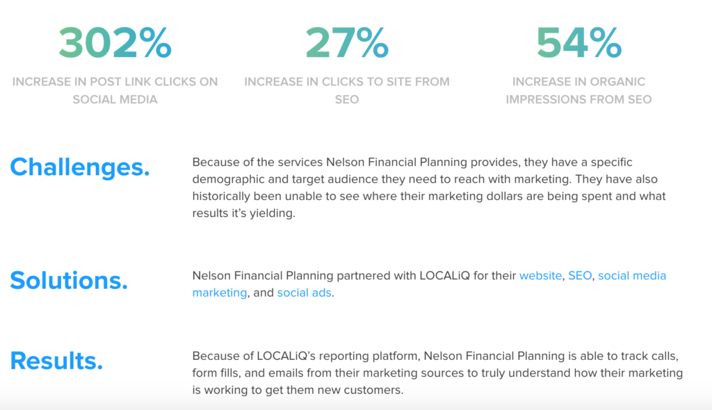 small business marketing strategies - an example of a success story from LOCALiQ.