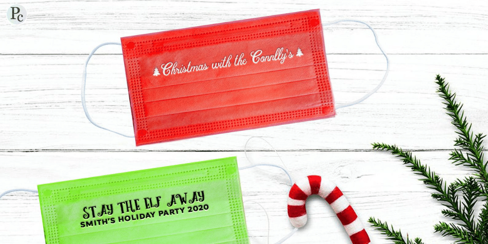 This year your holiday event to support your holiday marketing campaigns might include custom masks.
