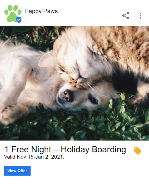 Use Google My Business to amplify your holiday promotions as part of your holiday campaigns.