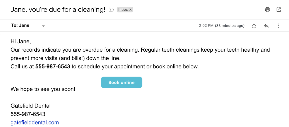 small business email examples and templates book a cleaning