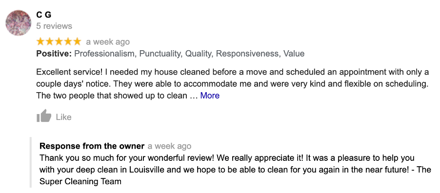 Reviews can play a huge role in building trust and transparency for your business.