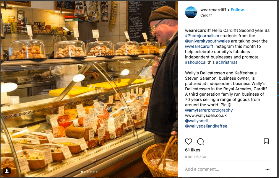 One instagram post idea is to use your holiday instagram posts to build a sense of community.