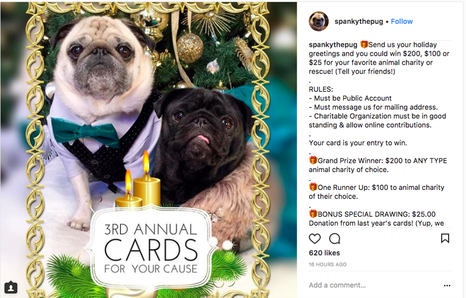 try combining online and offline marketing with a direct mail instagram giveaway.