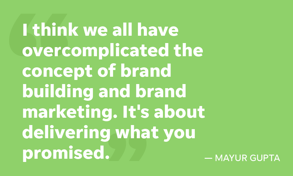 Gannett CMO & Chief Strategy Officer says brand marketing and brand building is about delivering what you promised.