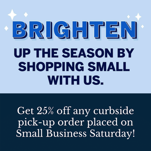 Think about the small business saturday offers you can promote that will entice people to do business with you during the holidays.