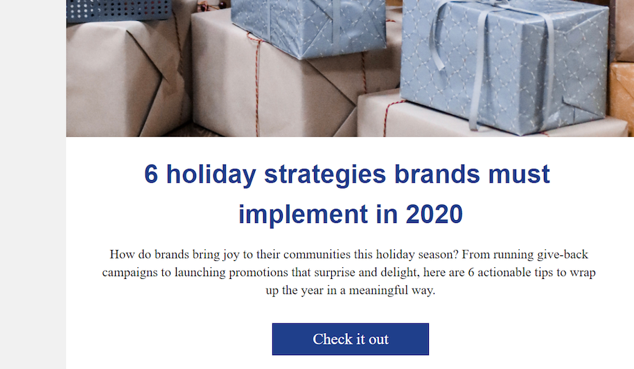 This example shows how this business is sending useful content in their email marketing lead nurture messages.