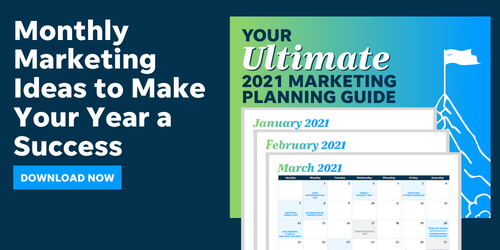 In this LOCALiQ guide, you'll get monthly marketing ideas and social post examples to make your year a success.
