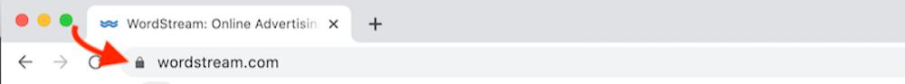 http vs https lock in address bar
