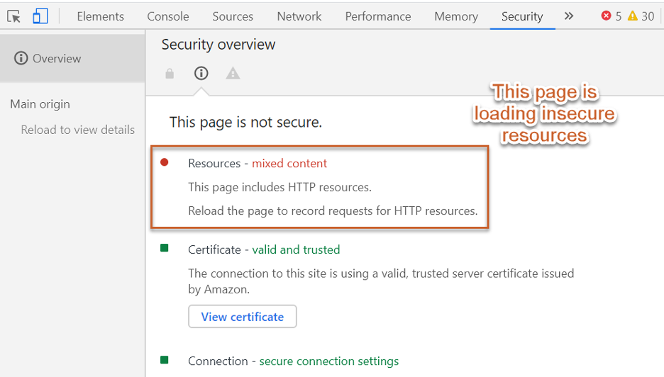 https vs https insecure loading