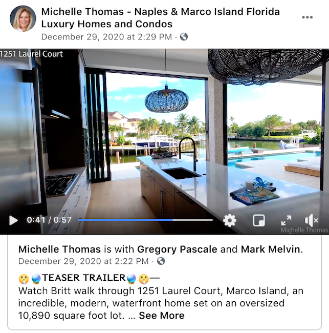 Video is a must for your real estate social media.