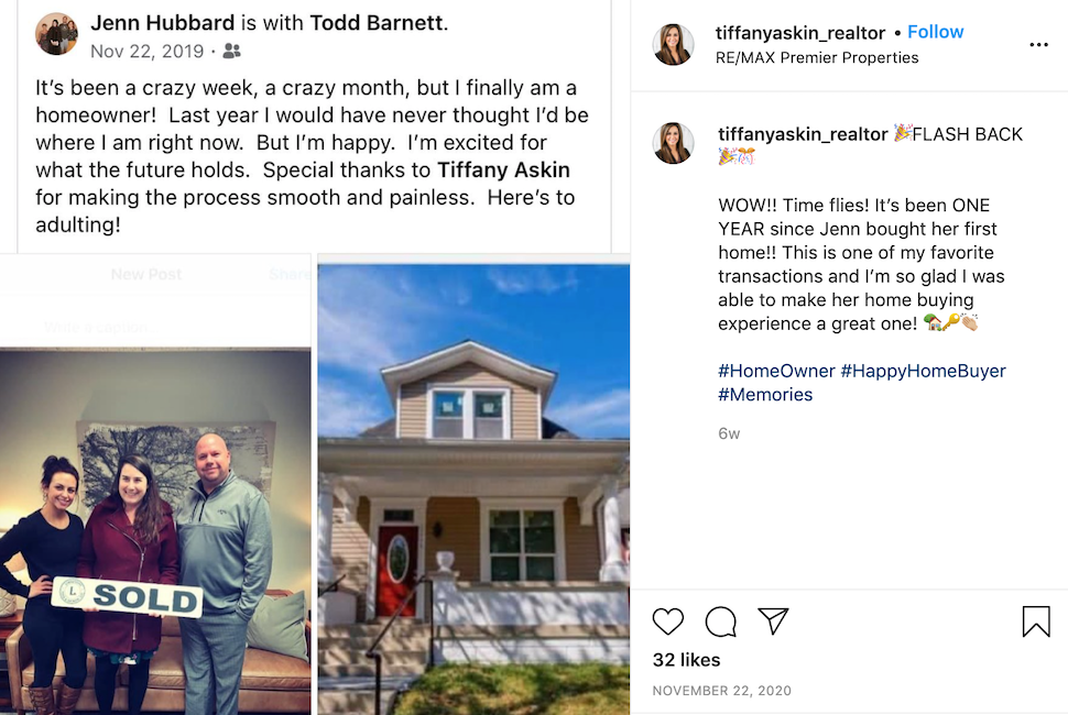 Sharing customer testimonials is a good way to improve your real estate social media.